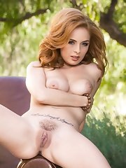 Ashley finds solace and pleasure in the comfort of nature.